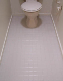 tile toilet renovation after